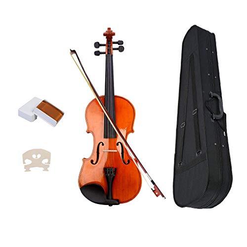 H HILABEE Violin Geige Violine Instrument mit Koffer Bow Kolophonium, Geschenk für Anfänger, Musikliebhaber und Geiger - 1-4