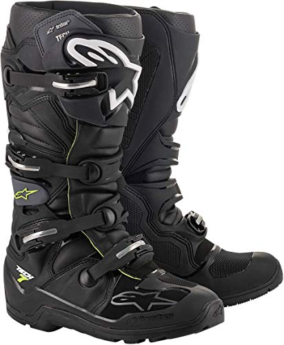 Alpinestars Tech 7 Enduro Ds Stiefel, Unisex, Schwarz/Grau, Größe 09 (Mehrfarbig, Einheitsgröße