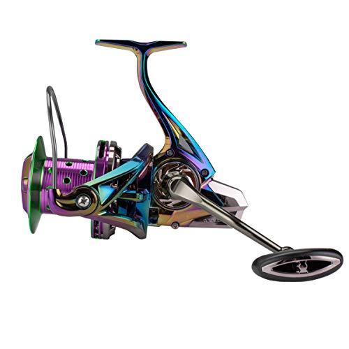 Diwa Spinning Fishing Reels 60 LBS MAX Drag Power Cojinete de Acero Inoxidable Cuerpo de Metal 8000 10000 12000 Carrete Agua Dulce Agua Salada Big-Game Surf Carrete Giratorio Ultra Suave (12000)