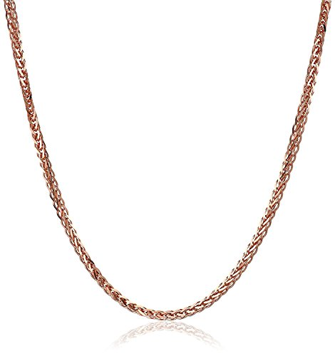 14 Karat 585 Gold Diamantschliff Spiga Weizen Rosegold Kette - Breite 1.50 mm (70)