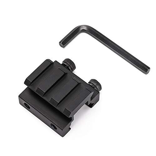 LSHBAO-Hunting, Taktische 3 Slot Ring 20mm Riser Weaver Picatinny Schiene Basis Adapter for Mount Zielfernrohr for Pistole Airgun Pistole Airsoft Hunt Laser Basis (Farbe : Schwarz)