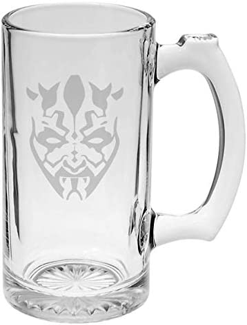 Darth Colorado Springs Mall Maul 35% OFF Star Wars Inspired 16 oz Etched Mug Beer Hand-made Gl