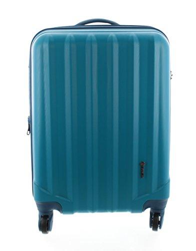 Pianeta - Hartschalenkoffer Trolley Koffer Reisegepäck Handgepäck Kabinentrolley Ibiza - 4 Räder - Erweiterbar (L (65cm), Blau)