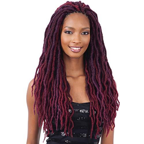 MULTI PACK DEALS! FreeTress Synthetic Hair Crochet Braids 2X Bo Loc 18' (6-PACK, CHERRYWINE)