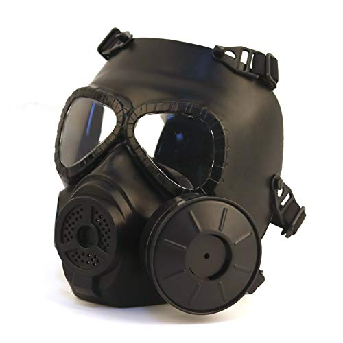 M04 Airsoft Tactical Protective Mask, Pummel Party, Full Face Eye Protection Skull Dummy Game Mask with Adjustable Strap for BB Gun CS Paintball Cosplay Costume Halloween Masquerade ( Color : Black )