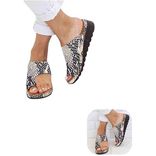 Cuthf Sandalias Corrector De Juanetes Ortopédico Zapatillas Corrector De Juanetes Casuales Antideslizante Respirable Zapatos Ortopédicos Viaje Verano Playa,E,38 ⭐