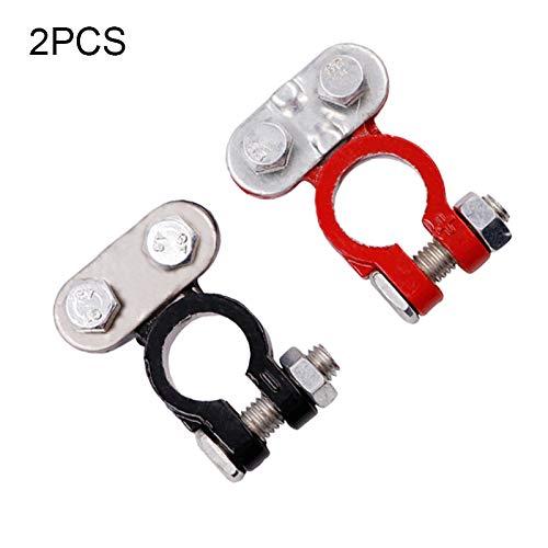1Pair 12V 24V Automotriz Car Post Post Battery Terminales Cable de cable Conectores Terminal Conectores Accesorios para automóviles (Color : Alloy)