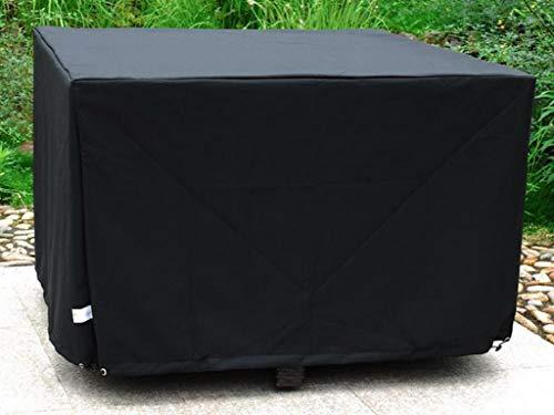 DCB GARDEN HOUSSE-4P Housse de Protection 4p en Polyester Noir, 105x105x72 cm