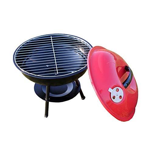 DFKDGL Barbacoas de carbón Tazón de Fuente de Fuego al Aire Libre Estufa de Barbacoa Redonda Hogar Portátil Parrilla de Barbacoa de carbón Parrilla de Barbacoa Calefacción en Invierno Mesa de Pozo