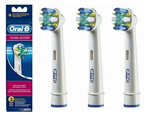 Oral-b - flossaction eb25 pack de 3 - brossettes pour brosses a dents électriques