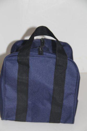Heavy Duty Nylon Bocce Bag - Blue with Black Handles