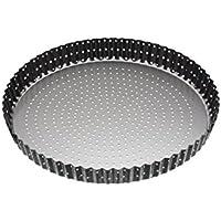 """Master Class–Molde para horno antiadherente estriado con base extraíble para tartas (/Quiche Pan, 28cm (11"""")"""