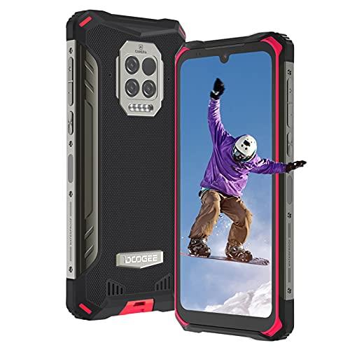 Móvil Resistente, DOOGEE S86 Pro Telefono Móvil Libre Resistente IP68, Pantalla HD+ 6.1', 8500mAh, 8GB + 128GB, Cámara Triple de 16MP, 4 LED Flashes, Face ID/Fingerprinte, NFC, OTG, GPS (Roja)