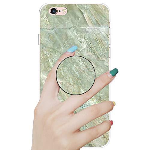 """Nadoli Marmor Hülle für iPhone 6S 4.7"""",Prämie Glatt Flexibel Weich Bunt Marmor Muster Ultra Dünn Gummi Silikon Handyhülle Schutzhülle mit Ständer für iPhone 6S/6 4.7"""""""