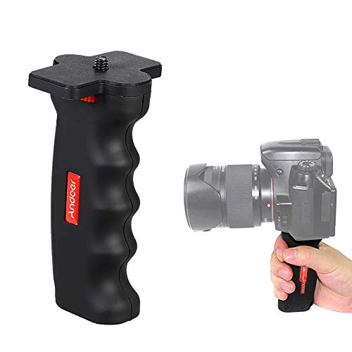 Andoer Wide Platform Pistol Grip Camera Handle with 1/4' Screw for SLR DSLR DC Canon Nikon Sony iPhone Xiaomi Smartphone