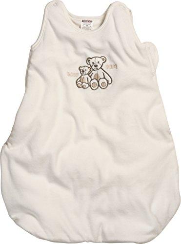 Schnizler Baby-Unisex Nicki Bär wattiert Schlafsack, Beige (Natur 2), One Size (Herstellergröße: 110cm)