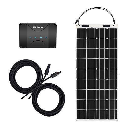 Renogy 100W 12V Flex Solar Bundle 30A MPPT Dual Battery Charging Controller, Flexible
