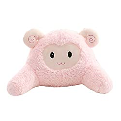 Cute Pink sheep reading pillow for kids girls