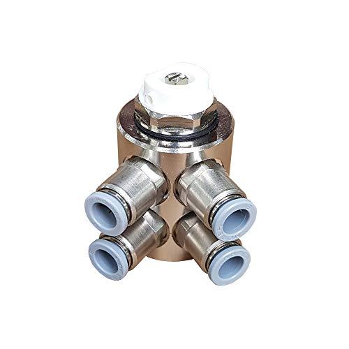 Jollytherm 10111 Aquaheat Verteiler 4-fach für Doppelrohr Warmwasser Fußbodenheizung