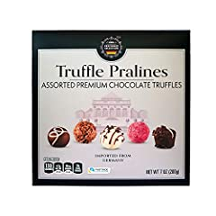 Delicious Gourmet Praline Chocolate Truffle Assortment 8 Assorted Flavors, 2 Truffles each Flavor Premium European Quality Chocolate - Made in Germany Fairtrade Certified Cocoa & Sugar