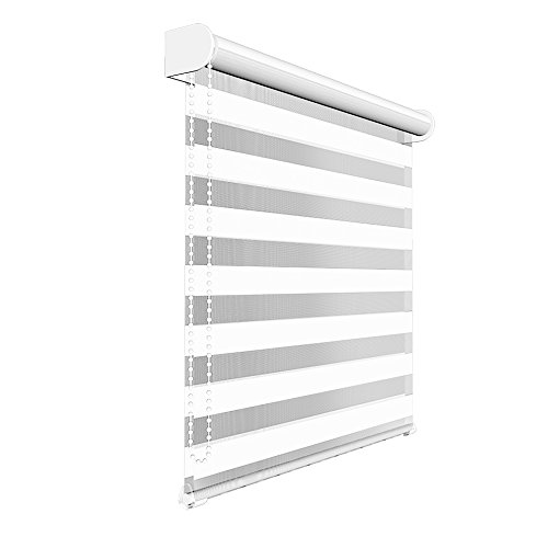 Victoria M. - Estor Doble Enrollable (para Ventanas y Puertas) 130 x 175 cm, Blanco