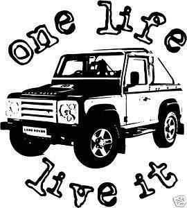 Online Design una Vida Directo It Pegatina Land Rover Defender 4x4 - Bosque Verde