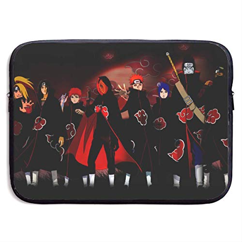 Laptop Sleeve Case Bag Cover Naruto Shippuden All Akatsuki Notebook Computer Pocket Case for MacBook Pro Air 13-15 Inch