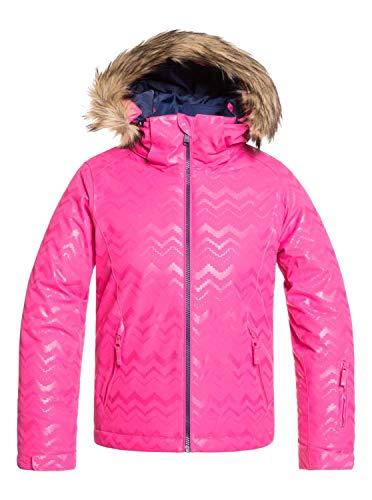 Roxy Jet Ski-Chaqueta para Nieve para Chicas 8-16, Niñas, Beetroot Pink aztecspiritembos, 14/XL