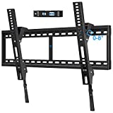 Mounting Dream Tilt TV Mount for 42-84 Inch Flat Screen TVs, Tilting TV Wall Mount Fits 16'/24'/32' Wood Studs, Low Profile Wall Mount TV Bracket for TVs with VESA 800x400mm, Holds up to 132 LBS, Blac