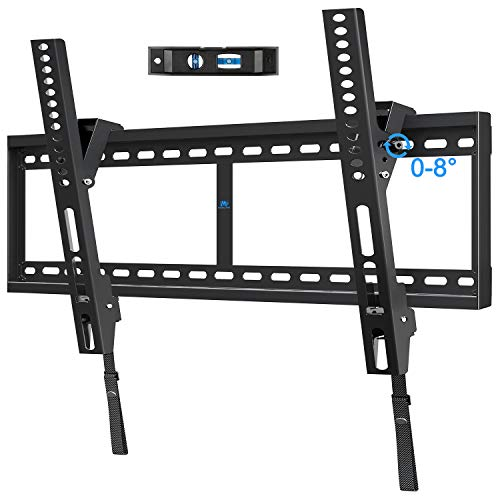 """Mounting Dream Tilt TV Mount for 42-84 Inch Flat Screen TVs, Tilting TV Wall Mount Fits 16""""/24""""/32"""" Wood Studs, Low Profile Wall Mount TV Bracket for TVs with VESA 800x400mm, Holds up to 132 LBS, Blac"""