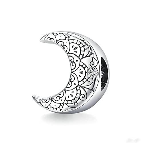 LIJIAN DIY 925 Sterling Jewelry Charm Beads Genuine Vine Moon Mujer Hacer Original Pandora Collares Pulseras Y Tobilleras Regalos para Mujeres