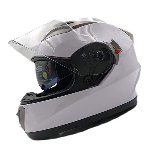 ECE Gekeurde Systeem Integraal Motorhelm | Full-Face Scooterhelm Voor Man En Vrouw. Uniseks Motorhelm Voor Volwassenen Met Dubbele Krasbestendige Klep En UV-Bescherming NH020