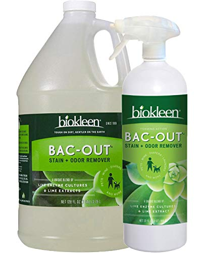 Biokleen Bac-Out Stain and Odor Remover - 32 Ounce and Gallon Refill - for Pet Stains, Laundry, Diapers, Wine, Carpets, More, Eco-Friendly, Non-Toxic, Plant-Based