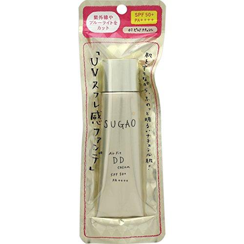 スガオ(SUGAO)エアーフィットDDクリームピュアナチュラルSPF50+PA++++25g