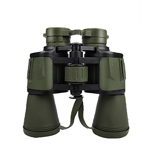 TASGK 20x50 Prismáticos para Niños Adultos, BAK4 Prism FMC Lente Vida Impermeables Prismáticos Compactos para Observación de Aves Prismáticos con Visión Nocturna de Poca Luz,Verde