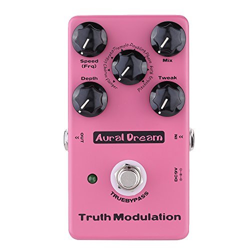 Aural Dream Truth Modulation Multi MOD Guitar Effects Pedal including Flanger Chorus Pitchshift Tremolo Phaser Ring effects True BypassMEHRWEG