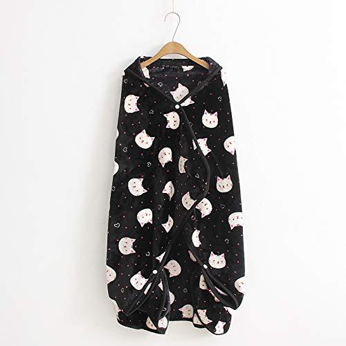 DALLL Manta de algodón con mangas y capucha con capucha para adultos y niños, 11,59 x 39