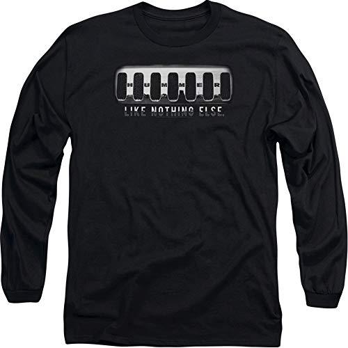 Hummer Grill T-Shirt, langärmelig, Schwarz - Schwarz - X-Groß