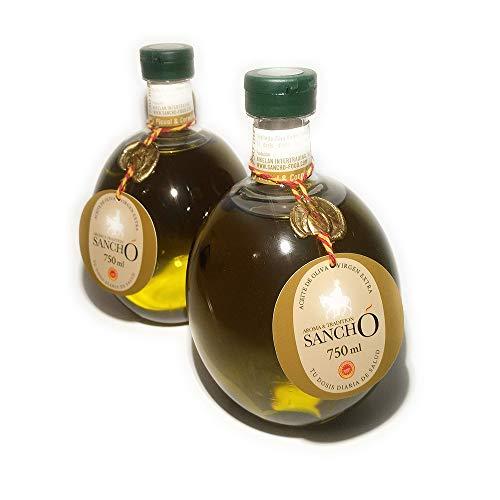 Aroma & Tradition Sancho – Aceite de Oliva Virgen Extra - Coupage de las Variedades Picual y Cornicabra con Denominación de Origen Protegida Campo de Montiel en Botella PET 750 ml