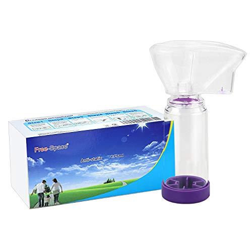 Cámara espaciadora de inhalador Aerochamber Plus para adultos, niños, asma en aerosol, tres tamaños para elegir (grande)