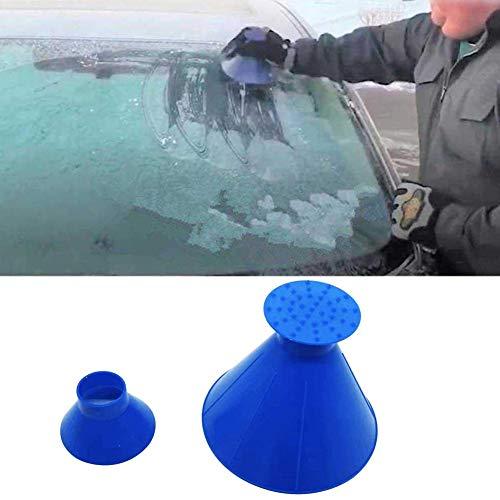 Liamostee Windschutzscheibe 2 in 1 Kratzspachtel Clean Snow Remover Tool Tragbarer kegelf?rmiger Trichter f¨¹r das Auto