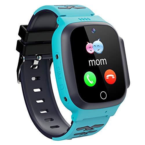 Hanguang Smartwatch, Smartwatch, Smartwatch, für Kinder, mit LBS/GPS, Track-Wiedergabe, elektronischer Zaun, Sos, Anruf, Kamera, Taschenlampenfunktion