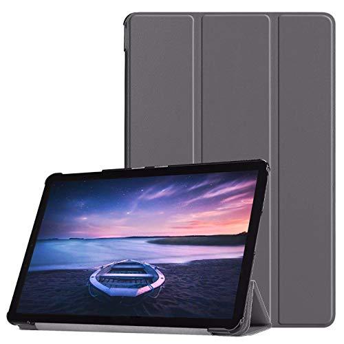 Lobwerk Hülle für Samsung Galaxy Tab S4 SM-T830 SM-T835 SM-T837 10.5 Zoll Schutzhülle Smart Cover mit Auto Sleep/Wake Grau