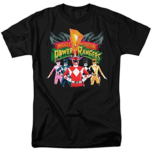 Power Rangers Unite T Shirt and Stickers (XX-Large)
