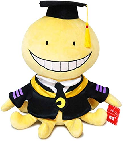 KroY PecoeD Anime Assassination Clase Peluche, Lindo Cartoon Ansatsu Kyoushitsu Koro Sensei Juguete de Felpa Suave Muñeca Regalo para Niño Chicas y Anime Fans - Medium