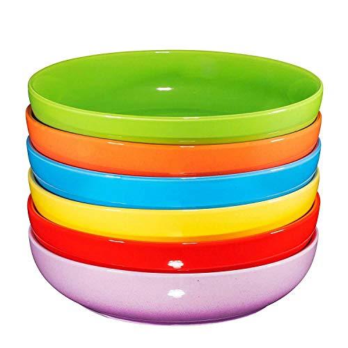 Ceramic Wide Bowls Plate Set Of 6 Dishwasher Multi Color 24 Oz Kitchen units Stainless metal mixing bowls by Kitchen mixing bowls with lids Matceramica portugal Popcorn bowls ceramic