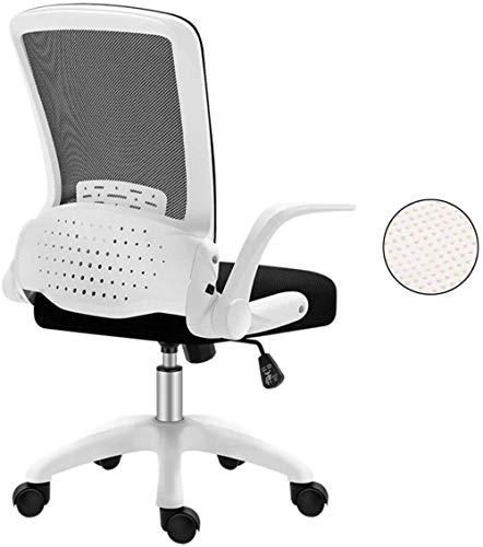 YYZZ -Home Computer Stuhl Klappbarer Bürostuhl Rollstuhl-Liftsitz Ergonomie Verstellbare Armlehne für Studenten/Mitarbeiter/Schlafsaal/Besprechung/Schulung