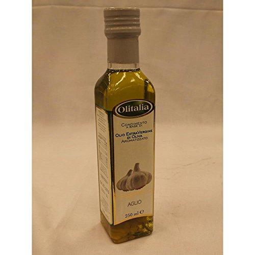 Olitalia Olio Extra Vergine di Oliva con Aglio 250ml Flasche (Extra natives Olivenöl mit Knoblauch)