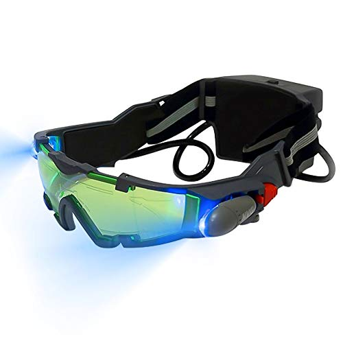 Nachtsichtbrille für Kinder, ShangSky Einstellbare Schutzbrille mit Ausklappbaren Lichtern zum Schutz der Augen beim Radfahren, Wandern und Spielen