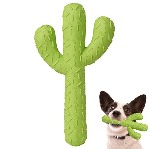 MewaJump Dog Chew Toys, Durable Rubber Dog Toys for Aggressive Chewers, Cactus Tough Toys for Training and Cleaning Teeth, Interactive Dog Toys for Small/Medium Dog